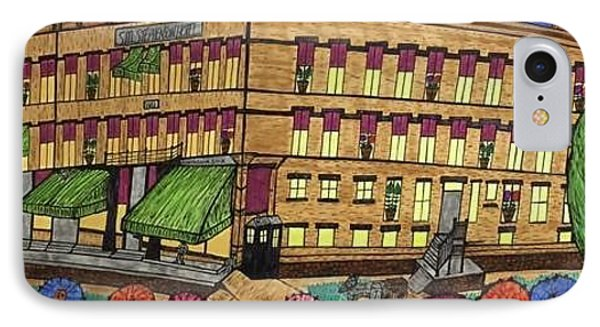 IPhone Case featuring the painting S.m Stephenson Hotel by Jonathon Hansen