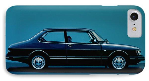 Car iPhone 7 Case - Saab 90 1985 Painting by Paul Meijering