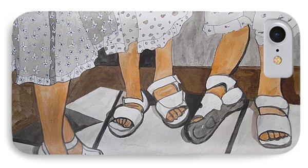 IPhone Case featuring the painting Sabbath Sandals by Esther Newman-Cohen