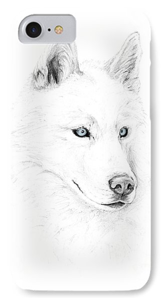 Saber A Siberian Husky IPhone Case by Stacey May