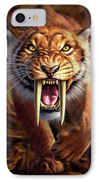 Sabertooth IPhone Case by Jerry LoFaro