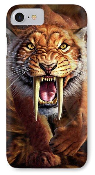 Panther iPhone 7 Case - Sabertooth by Jerry LoFaro