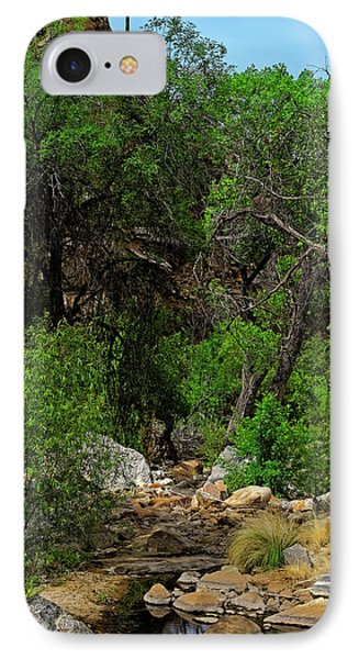IPhone Case featuring the photograph Sabino Canyon V49 by Mark Myhaver