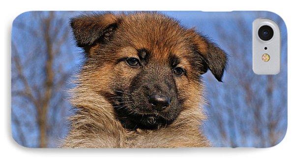 Sable German Shepherd Puppy II Phone Case by Sandy Keeton