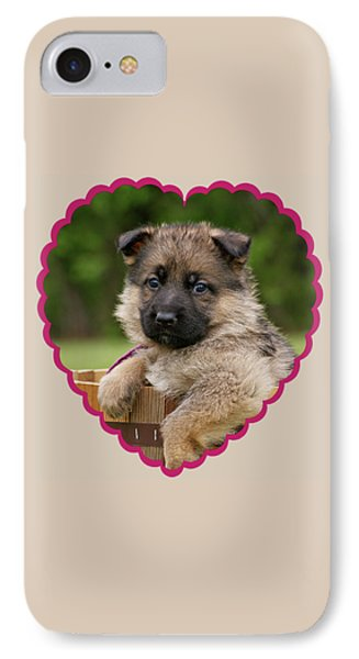 IPhone Case featuring the photograph Sable Puppy In Heart by Sandy Keeton