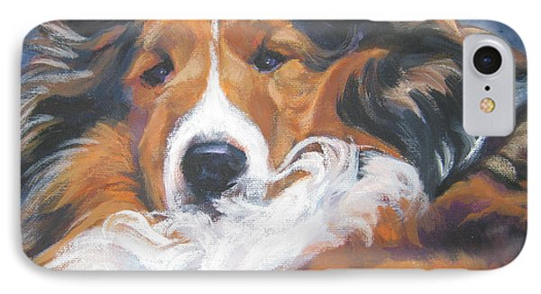 Sable Shetland Sheepdog Phone Case by Lee Ann Shepard