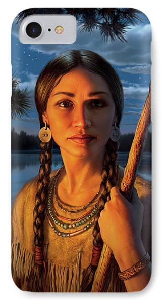Sacagawea IPhone Case by Mark Fredrickson