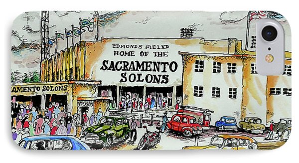 IPhone Case featuring the painting Sacramento Solons by Terry Banderas