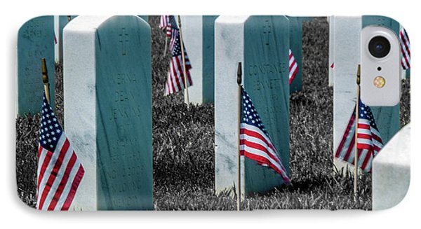 Sacramento Valley Veterans Cemetary IPhone Case by Bill Gallagher