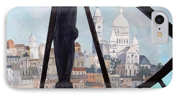 Sacre Coeur From Musee D'orsay IPhone Case by Diane Arlitt