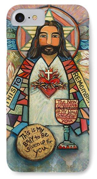 Sacred Heart Of Jesus IPhone Case by Jen Norton