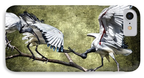 Sacred Ibis Photobombing IPhone Case by Wes and Dotty Weber