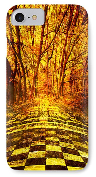 Sacred Temple Of The Trees Phone Case by Jenny Rainbow