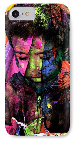 Sad IPhone Case by Bliss Of Art