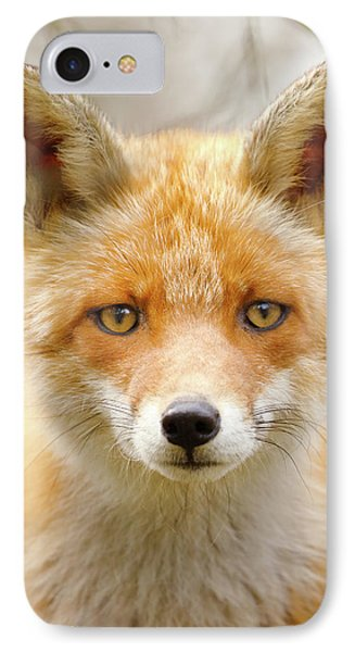 Sad Eyed Fox Of The Lowlands - Red Fox Portrait IPhone Case