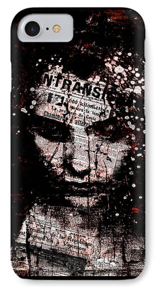 IPhone Case featuring the digital art Sad News by Marian Voicu