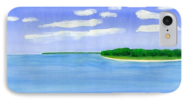 IPhone Case featuring the painting Sag Harbor, Long Island by Dick Sauer