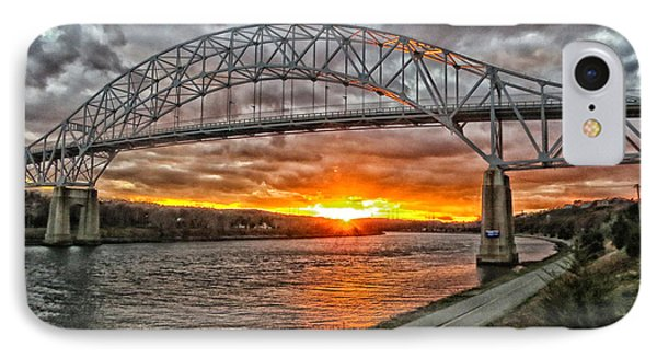 Sagamore Bridge Sunset IPhone Case by Constantine Gregory