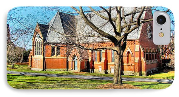 Sage Chapel Cornell University IPhone Case by Elizabeth Dow
