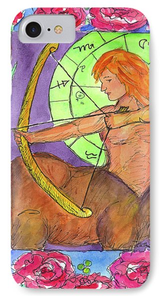 IPhone Case featuring the painting Sagittarius by Cathie Richardson