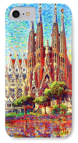 Barcelona iPhone 7 Case - Sagrada Familia by Jane Small
