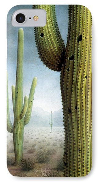 Saguaro Cactus Landscape IPhone Case