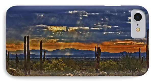 Saguaro Dawn IPhone Case by Kenneth Roberts