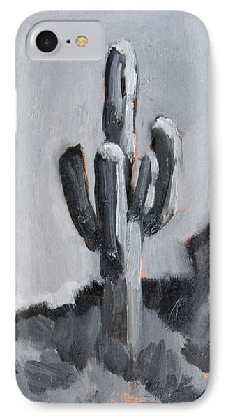 IPhone Case featuring the painting Saguaro Plein Air Study by Diane McClary