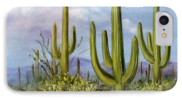 Saguaro Scene 1 IPhone Case by Summer Celeste