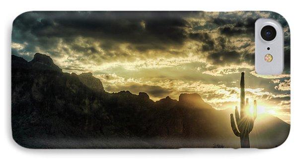 Saguaro Sunrise  Phone Case by Saija  Lehtonen