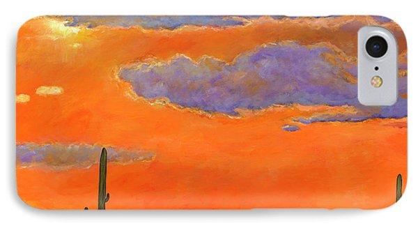 Saguaro Sunset IPhone Case by Johnathan Harris
