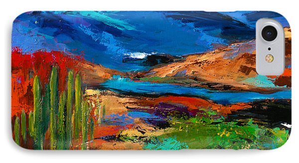 Saguaros Land IPhone Case by Elise Palmigiani