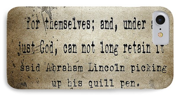 Said Abraham Lincoln IPhone Case