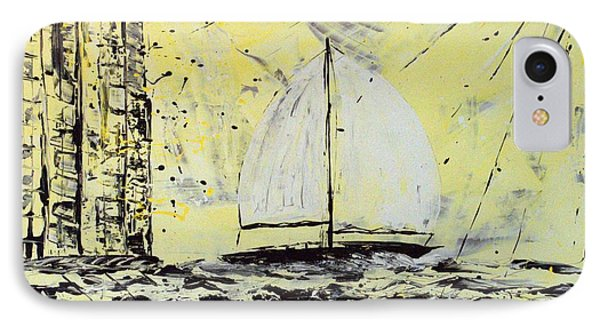 IPhone Case featuring the painting Sail And Sunrays by J R Seymour