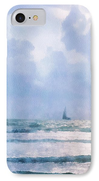 IPhone Case featuring the digital art Sail At Sea by Francesa Miller