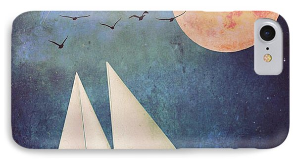 IPhone Case featuring the digital art Sail Away by Alexis Rotella