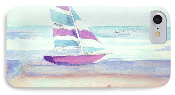 IPhone Case featuring the painting Sail Away by Denise Fulmer