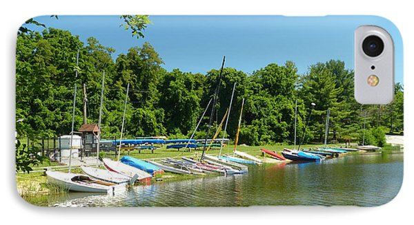 IPhone Case featuring the photograph Sail Boats At Rest by Donald C Morgan