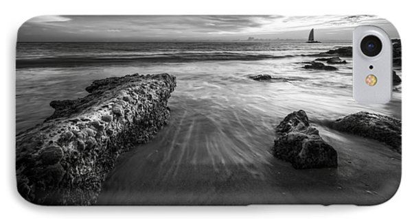 Sail Into The Sunset - Bw IPhone Case by Marvin Spates