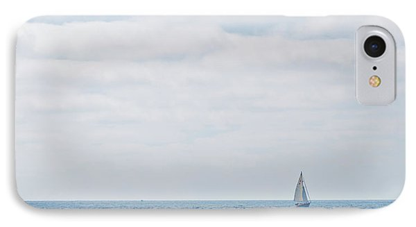 Sail On Blue - Widescreen IPhone Case by Peter Tellone