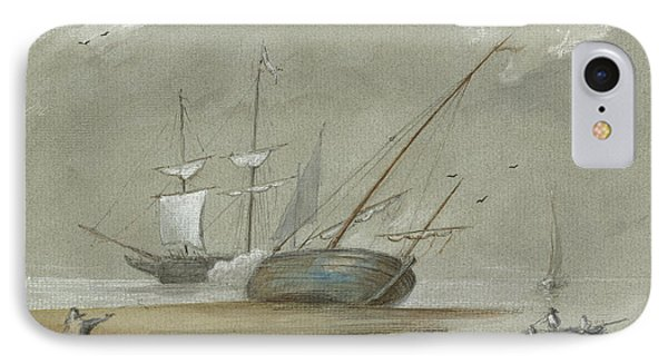 Sail Ships And Fishing Boats IPhone Case