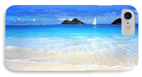 Sailboat And Islands IPhone Case by Thomas R Fletcher