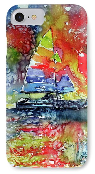 Sailboat At Sunset II IPhone Case by Kovacs Anna Brigitta