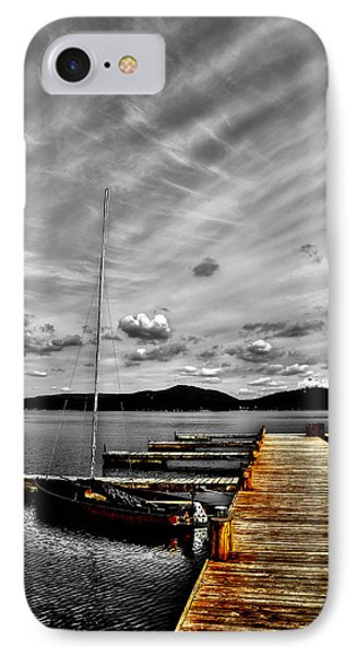 Sailboat At The Dock IPhone Case by David Patterson