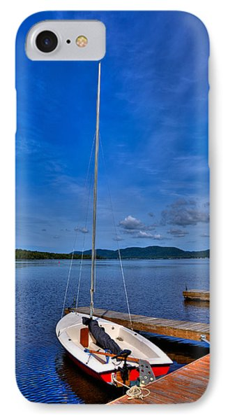 Sailboat At The Woods Inn IPhone Case