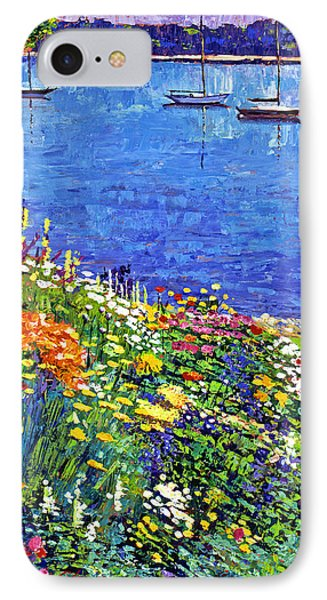 Sailboat Bay Garden Phone Case by David Lloyd Glover