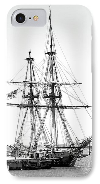 Sailboat Docked In Cleveland Harbor IPhone Case