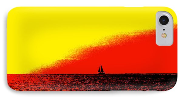 Sailboat Horizon Poster IPhone Case