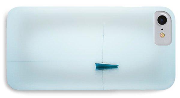 Sailboat In Fog IPhone Case by John Greim