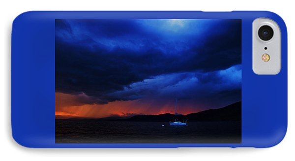 IPhone Case featuring the photograph Sailboat In Thunderstorm by Sean Sarsfield